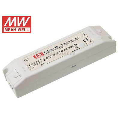 Mean Well PLC AC/DC 24V/48V 30W 100W Power Supply LED Driver Water & Dust-proof