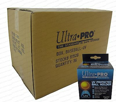 72 Ultra Pro Square BASEBALL DISPLAY Holder w/Stand UV Protection New Lot Case