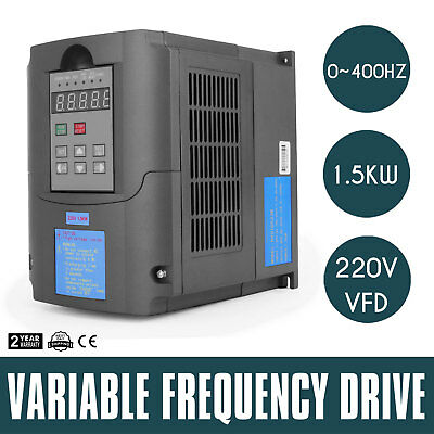 1.5Kw 2Hp 7A 220Vac Single Phase Variable Frequency Drive Inverter Vsd Vfd Usa