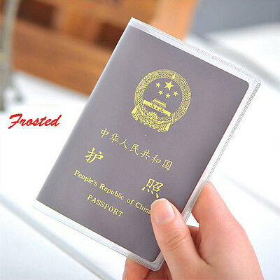 New Clear Transparent Passport Cover Holder Case Organizer Card Travel Protector