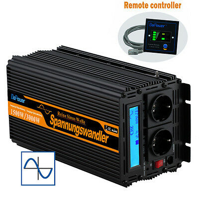 Power Inverter 1500W 3000W 12V 240V Pure Sine Wave With Lcd Soft Start