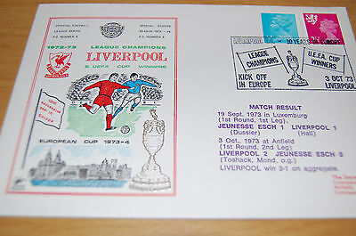 Liverpool League Champions & In Europe 1973 Official Football League Cover