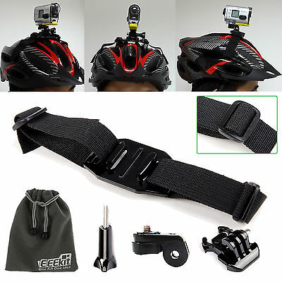 EEkit 5in1 Helmet Strap Mount Kit for Sony Action Cam HDR-AS15/AS20/AS30V/AS100V