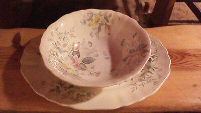 "English Staffordshire ""Old World Charm"" J&G Meakin, England, Platter and Bowl"