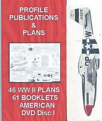 Model Airplane Plans 46 WW II AMERICAN  FIGHTER PLANS ON A DVD