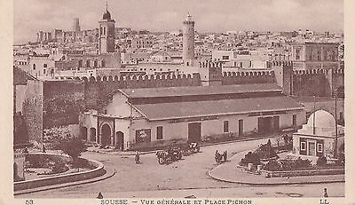 Cpa: Sousse / Place Pichpon/ Tunisie