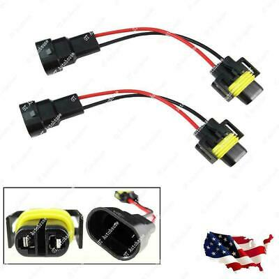 2x 9006 To H11 H8 Headlight Fog Light Conversion Connector Wiring Harness Socket