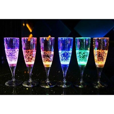 Clulite Drinking Glasses Champagne Led X6 Hen Night Party Christmas Lag-1 (Ch)
