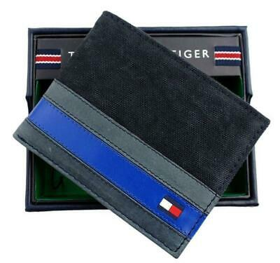 Brand New Tommy Hilfiger Men's Canvas Leather Credit Card Wallet Billfold 4896-1