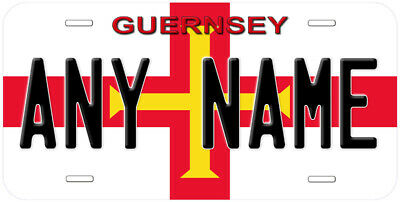 Guernsey Flag Aluminum Novelty Car License Plate