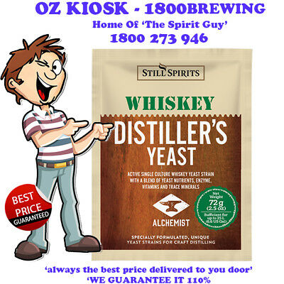 DISTILLERS WHISKY YEAST @ $5.75 ea By STILL SPIRITS - 50186