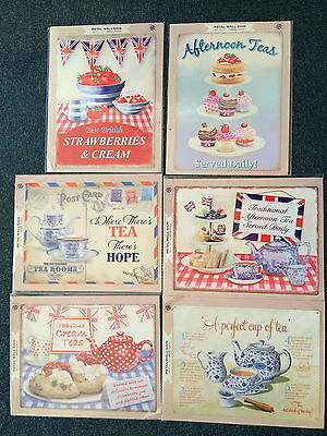 Tea Signs A3 Tin Metal Sign 40cm Cakes Perfect English Afternoon Cream Teas Hope