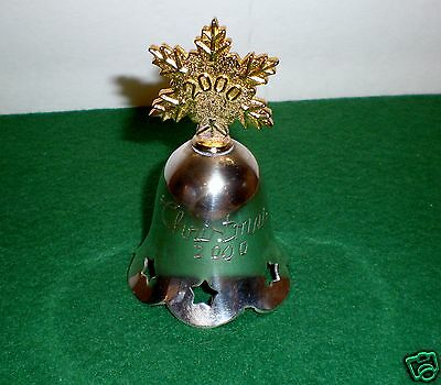 """2000 Silver-plated Christmas Bell  """"Snowflake Top"""" International Silver Co."""