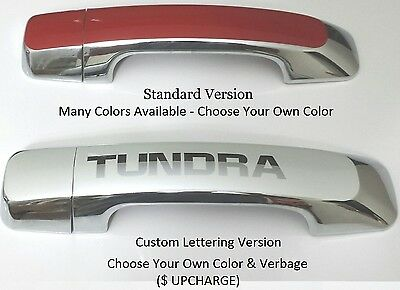 Custom Color & Chrome Door Handles Overlays 2015 Toyota Tundra PICK YOUR COLOR