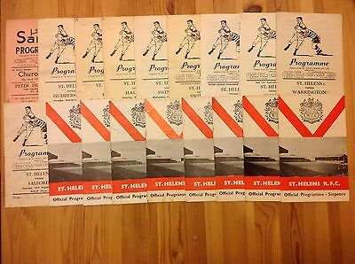 St Helens Rugby League Programmes 1960 - 2005