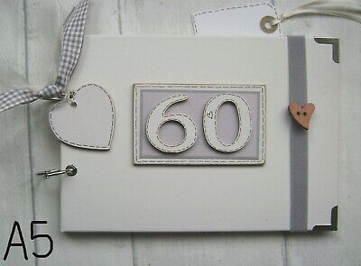 PERSONALISED 60TH birthday .A5  SIZE..  PHOTO ALBUM/SCRAPBOOK/MEMORY BOOK.