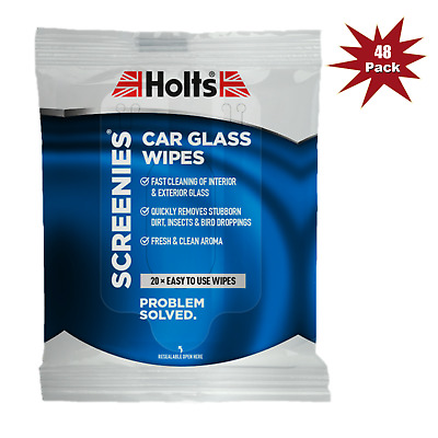 Holts Screenies Interior Glass Cleaner Wipes - 20pk x 48 = 48pk