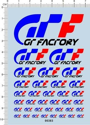 Decals Factory GT  for different scales (00383)