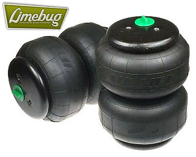 "Dual Twin Bellow Air Bags D2500 Dominator Single Port 1/2"" VW Airbag System"