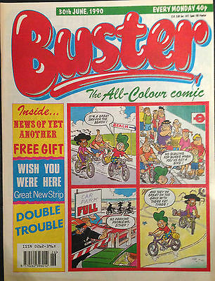 Buster 30th June 1990 FN 1st Print Free UK P&P Fleetway Comics Magazine