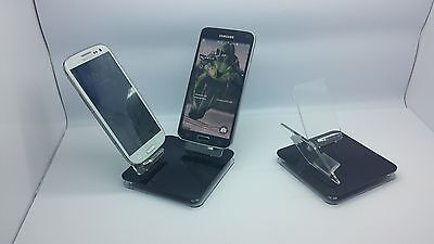 LOT 100 NEW STAND HOLDER CELL PHONE DISPLAY 2 in 1 OFF BLACK