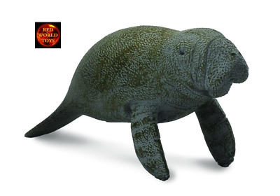 MANATEE CALF SWIMMING - Sealife Model by CollectA 88456 *New with Tag*