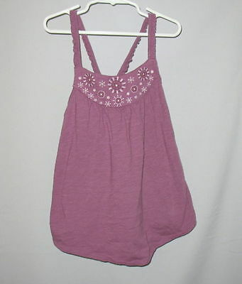 GAP Plum Embroidered Top Swing 6-7 (S) LN