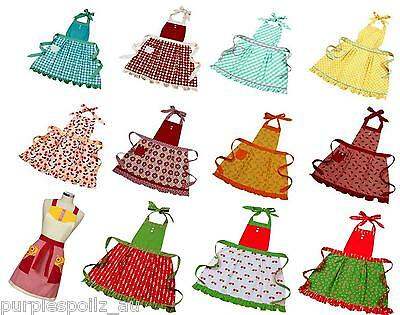 NEW ANNA GARE APRON Aprons Vintage Retro Shabby Chic Kitchen Linen 5 STYLES