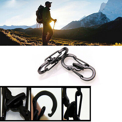 5x Outdoor Camping Hiking Micro Lock Keychain Locking Clips Carabiner