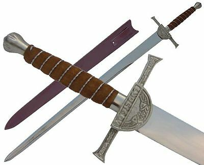Large Macleod Broad Sword with Leather Sheath - New in Box