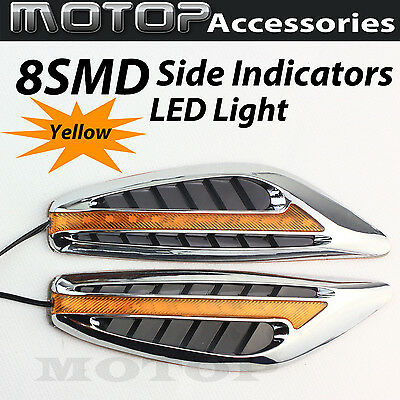 2x Car 8 LED Side Indicators Turn Signal Panels LED Light Lamps AMBER
