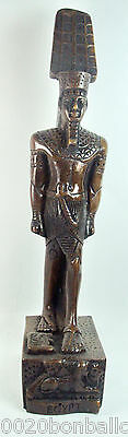 "Egyptian King Tut Pharaoh Figurine Statue Ancient Hand Made Sculpture 10.5""(201)"