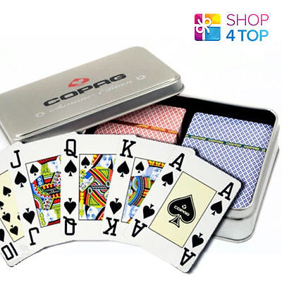 Copag Four Seasons 100% Plastic Poker Cards - Summer Limited Edition 2 Decks New