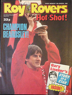Roy of the Rovers 18th March 1989 VG 1st Print Free UK P&P Fleetway Magazine