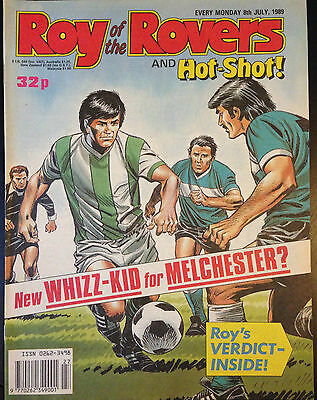 Roy of the Rovers 8th July 1989 VG 1st Print Free UK P&P Fleetway Magazine
