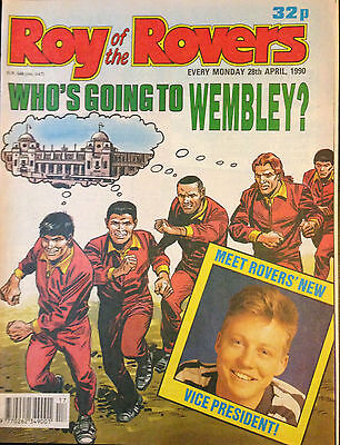 Roy of the Rovers 28th April 1990 VG 1st Print Free UK P&P Fleetway Magazine