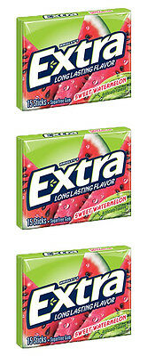 3 x American Wrigley's Extra Sweet Watermelon Chewing Gum Free UK Delivery