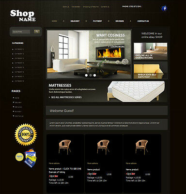 Ebay Store Template Professional Listing Template - Full Online Ebay Shop Design