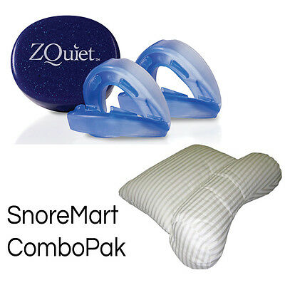 ZQuiet anti-snore appliance and Science of Sleep Snore No More pillow ComboPak