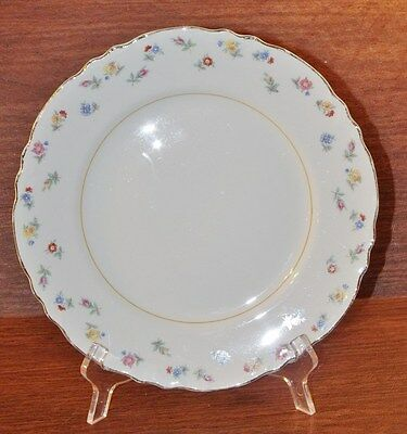 "W. S. George Radisson 9-3/4"" DINNER PLATE Multicolor Flowers Floral Pattern"