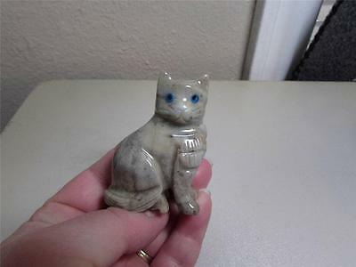 Cat, Solid stone Hand carved Feline from Andes Rich Colored Stone Cat!