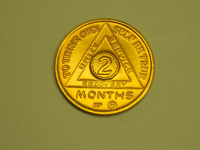 Alcoholics Anonymous  2  Month Anniversary   Medallion - Chip - Coin - Token