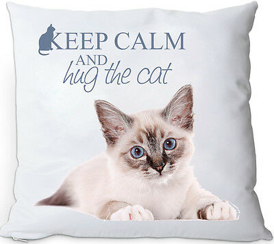 +++ HEILIGE BIRMA KATZE - KISSENBEZUG kussensloop PILLOW CASE keep calm CAT 02