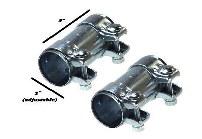"""dual clip muffler Exhaust clamp pair of Two 2"""""""