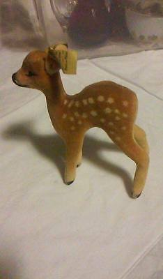 """NO RESERVE MINT CONDITION STEIFF """"FAWN"""" #6412-00 VINTAGE CHRISTMAS"""