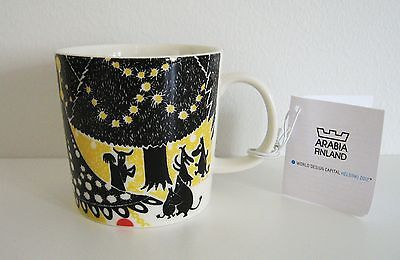 Arabia Finland World Design Capital Helsinki 2012 Moomin mug Hurray! / Hurraa!