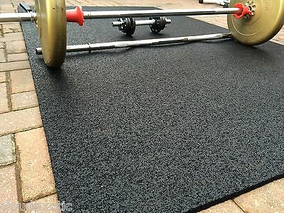 100% RUBBER Gym Mat COMMERCIAL Flooring 10mm EXTRA THICK garage workshop mats !!