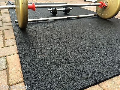 100% RUBBER Gym Mat COMMERCIAL Flooring 13mm EXTRA THICK garage workshop mats !!