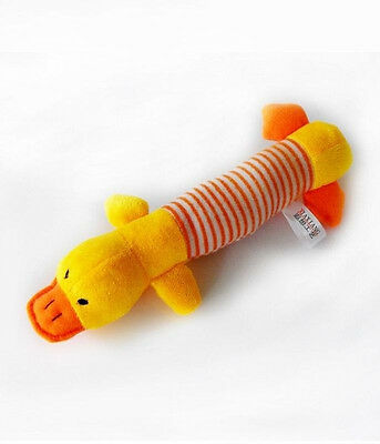 New Dog Toys Pet Puppy Chew Squeaker Squeaky Plush Sound Ducks Toys