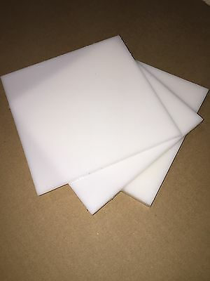 "Natural HDPE Plastic Sheet 1/8"" x 12"" x 24""  (.125"")"